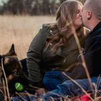 Engagement photos with our pup