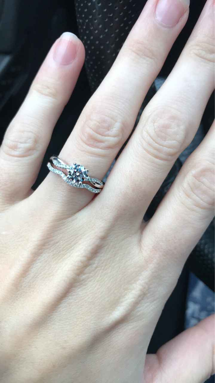 Gold Engagement Ring - 1