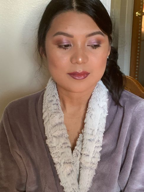Lilac eyes makeup for Summer wedding. 2