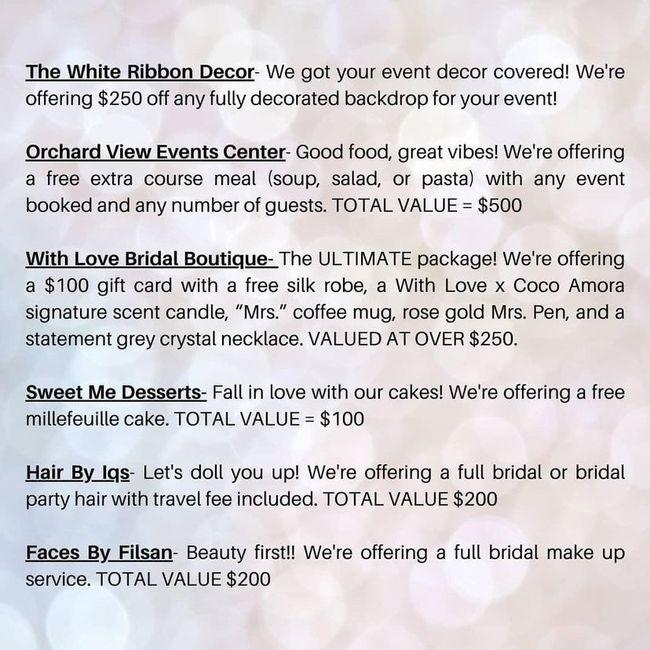 Won giveaway wedding related 1