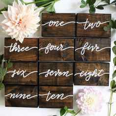 Table Number Ideas - 2