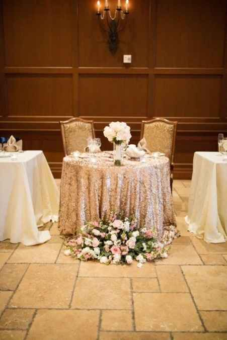 head table lay out