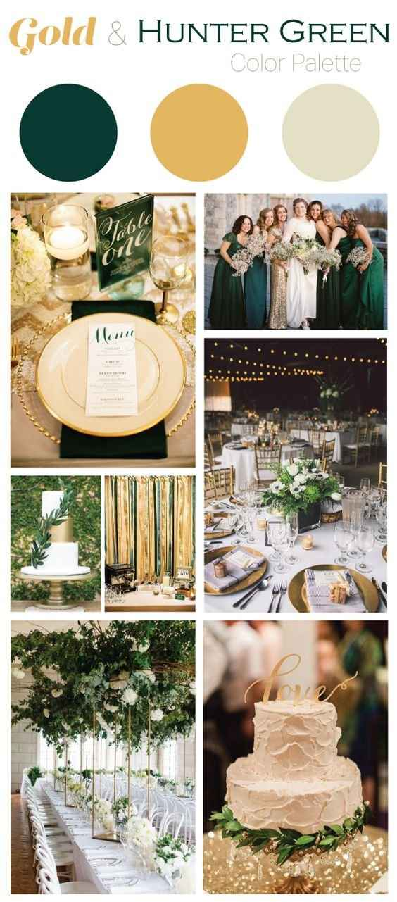 Our colours are hunter green and gold so we used this as inspo!