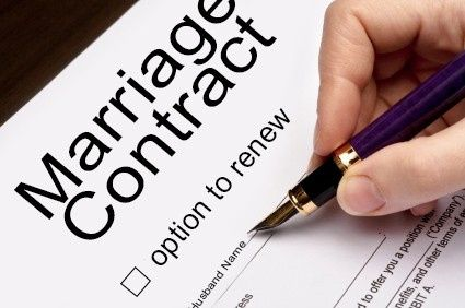 How about marriage contract....do you have it or will you have it.... 1