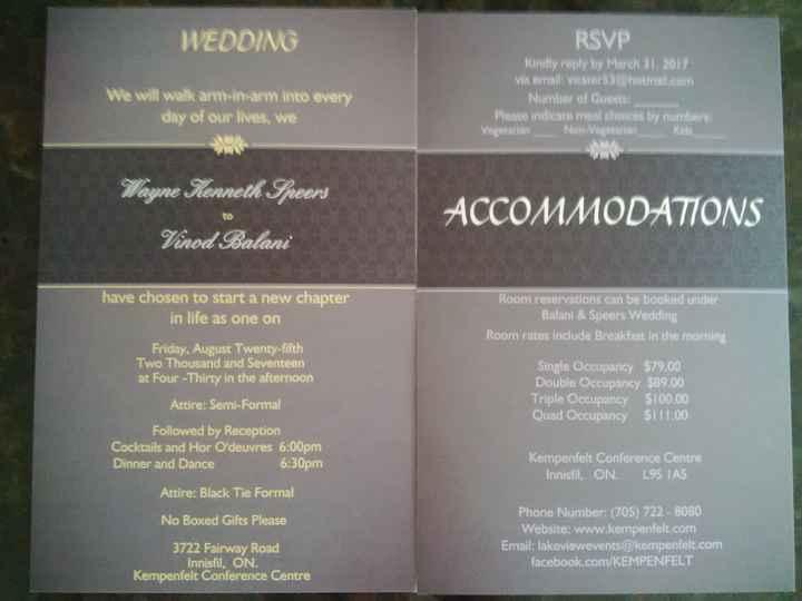Invitations - 2