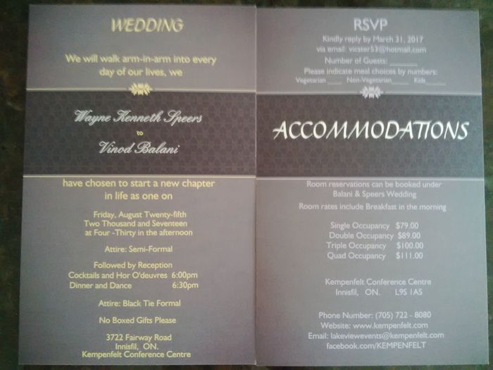 Invitations + reserved seating options - 1