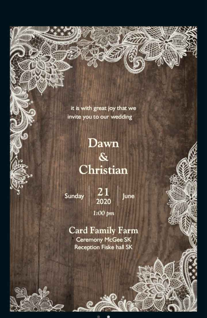 Wording on invites - 1
