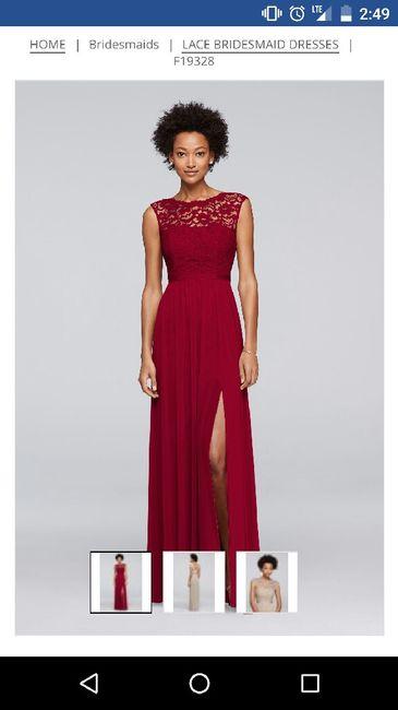 Red Bridesmaid Dresses 6