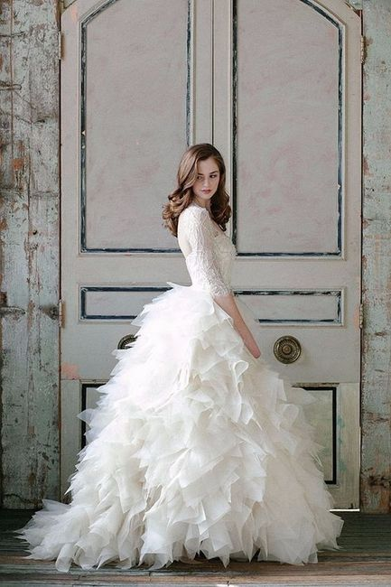 Design your ideal wedding dress skirt wedding fashion forum ruffles skirt junglespirit Choice Image