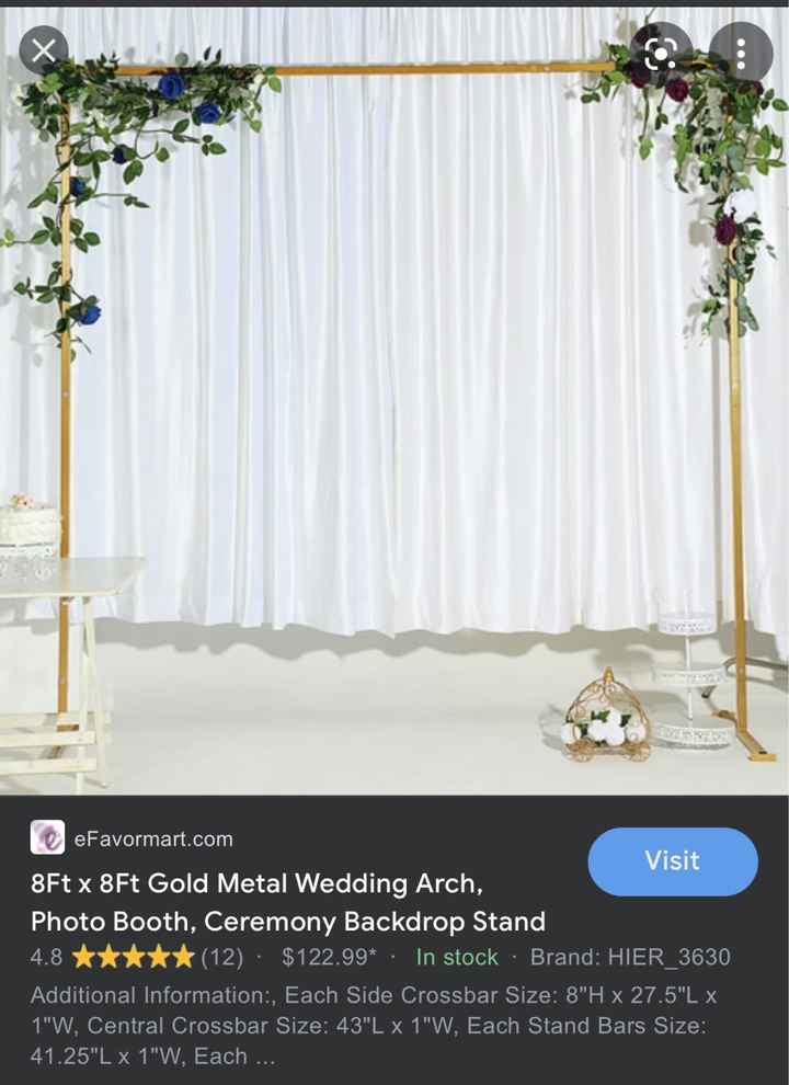 Wedding backdrop - 1