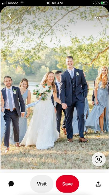Coordinating the bridesmaids with the groomsmen 1