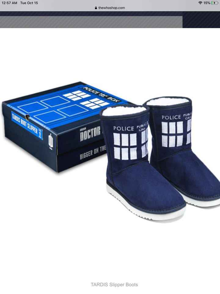 Doctor Who TARDIS slippers.