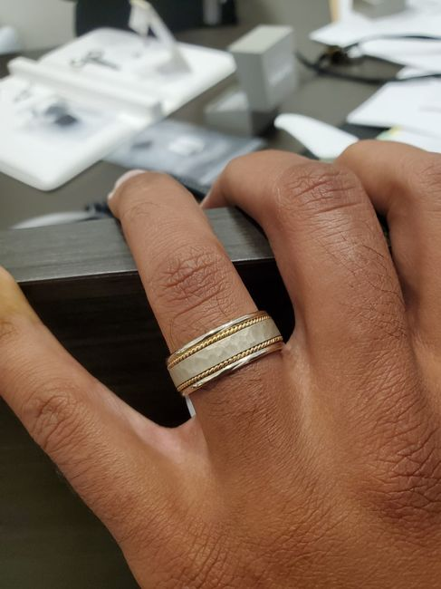 Show off your partner's wedding band! 1