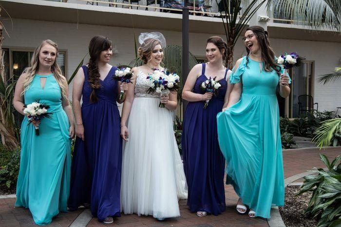 Mismatched Bridesmaid Dresses 2