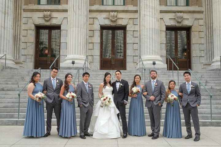 Coordinating the bridesmaids with the groomsmen - 2