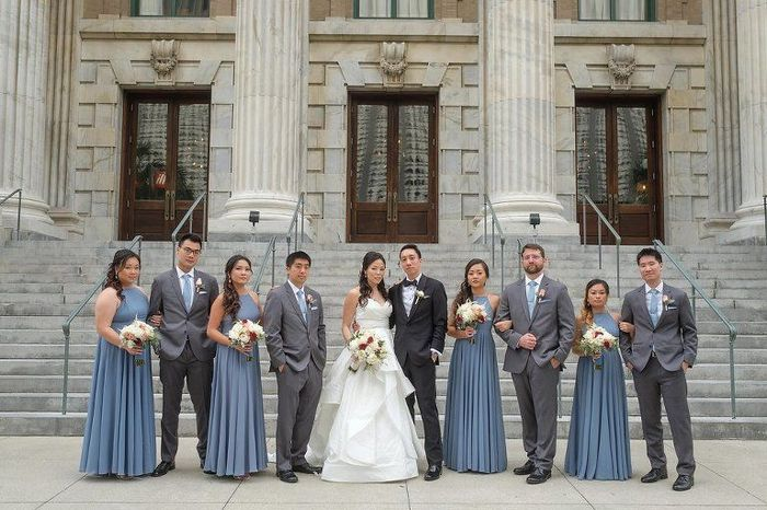 Coordinating the bridesmaids with the groomsmen 3