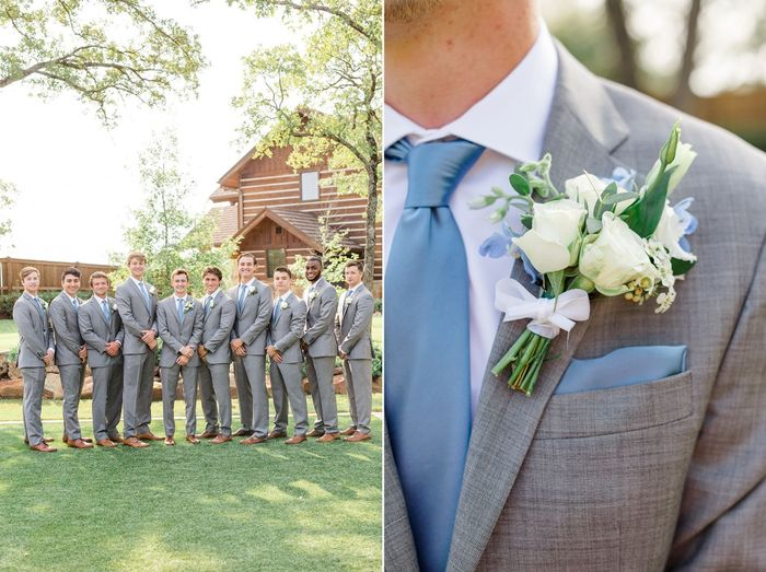 Coordinating the bridesmaids with the groomsmen 6