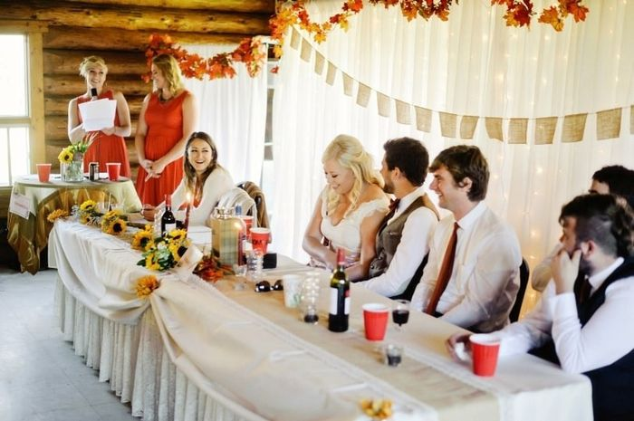 Who Is Giving A Speech At Your Reception Wedding Reception