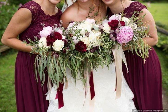 Red Bridesmaid Dresses 1