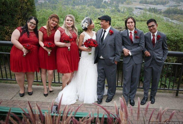 Red Bridesmaid Dresses 2