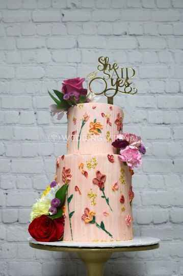 Hand painted wedding cakes? - 1