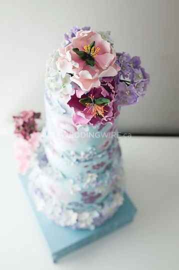 Hand painted wedding cakes? - 3
