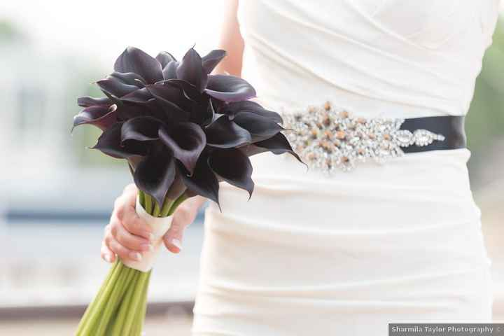 Wedding dresses with pops of black - 1