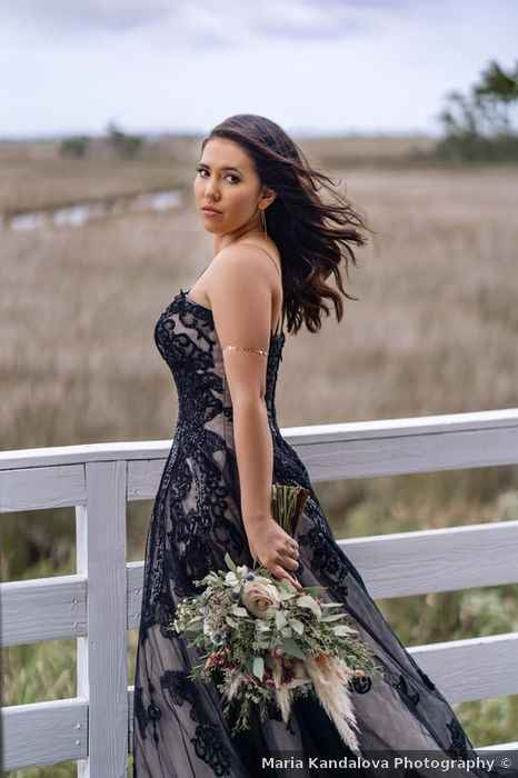 Wedding dresses with pops of black - 3