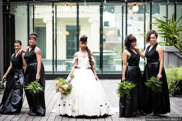 Wedding dresses with pops of black - 5