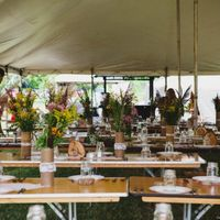This Real Wedding used rustic greenery, twine, and wood