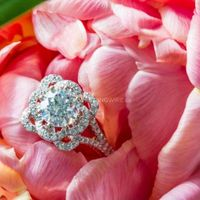 floral ring in a peonie
