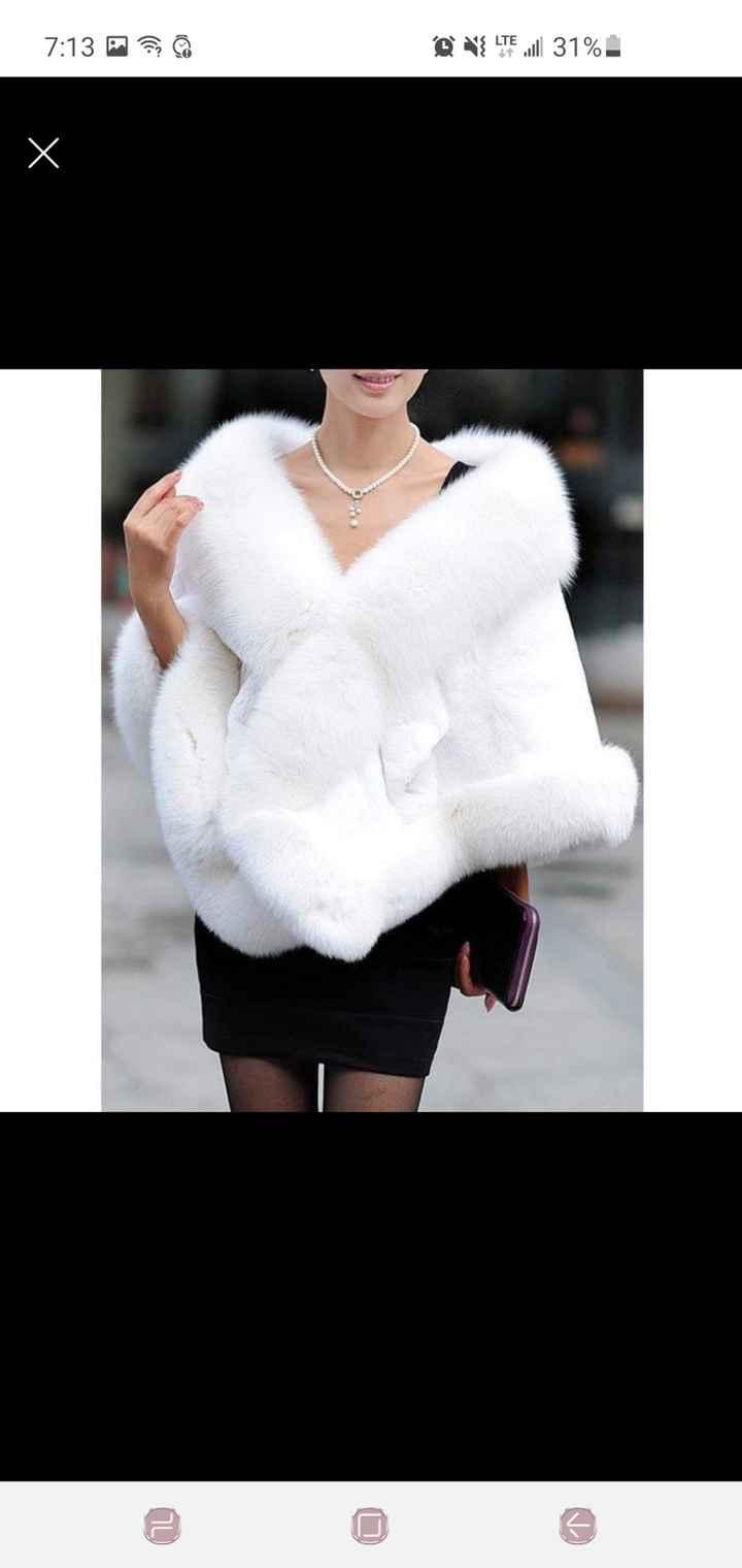 Winter Wedding Shawl/jacket - 1