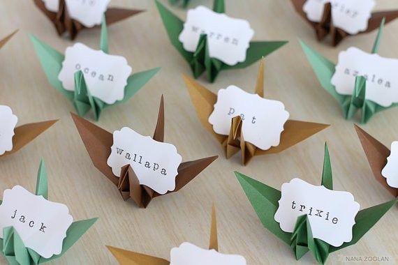 origami placecards ideas wedding reception forum. Black Bedroom Furniture Sets. Home Design Ideas