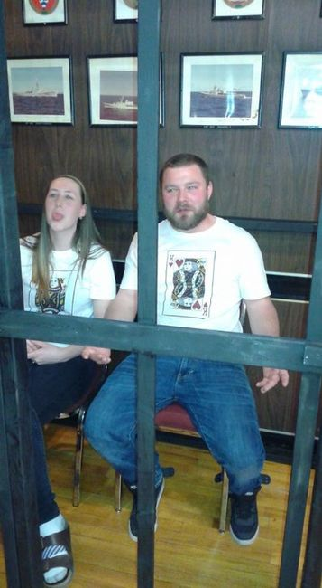Bride and groom in jail