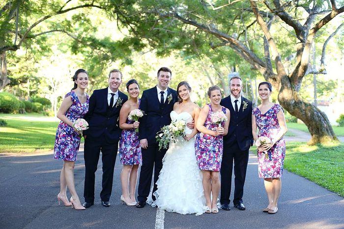 Uneven bridesmaids vs groomsmen - 1