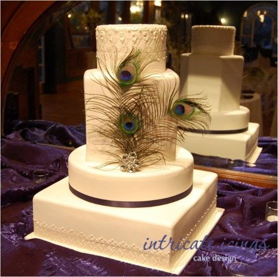 Feather wedding cakes - Wedding reception - Forum Weddingwire.ca