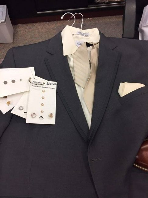 FH's suit, tie, vest, pocket square and cufflinks