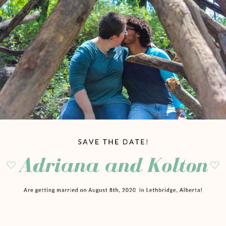 Let's see your save the dates! - 1