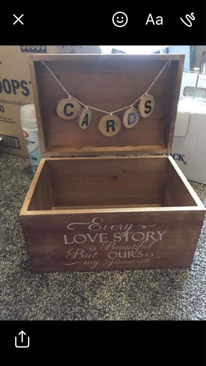 Card Box Ideas Wanted - 1