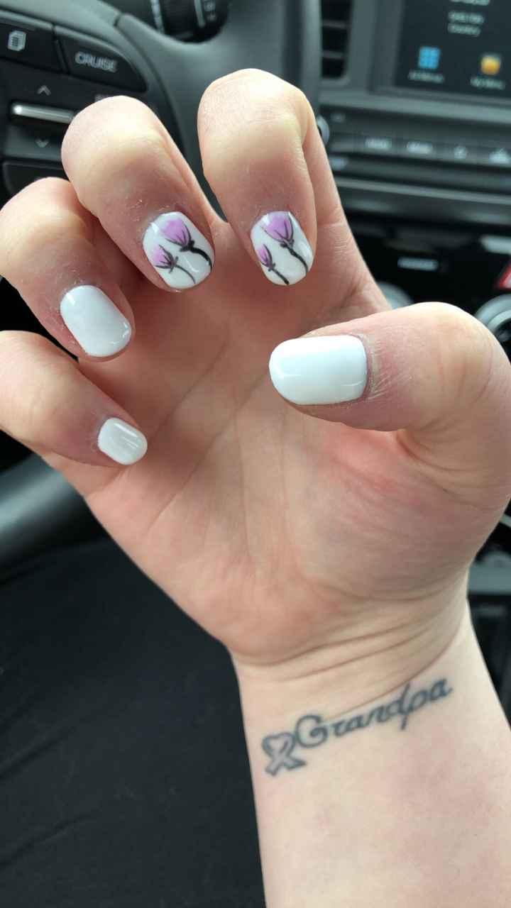 Wedding day nails...  again - 2