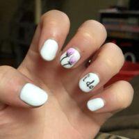 Wedding day nails...  again - 1