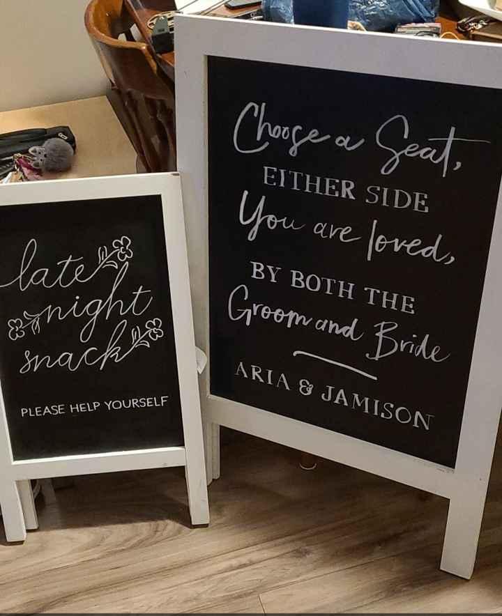 Wedding Signage - 1