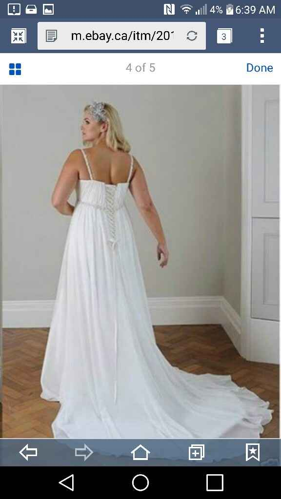 What style of bustle will you have on your wedding dress? - 1