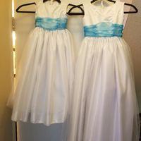 i finished the flower girl dresses! - 1