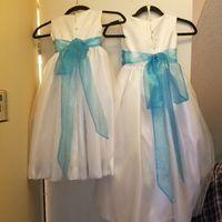 i finished the flower girl dresses! - 2