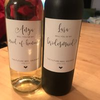 A couple of the custom wine labels I had made for my girls!