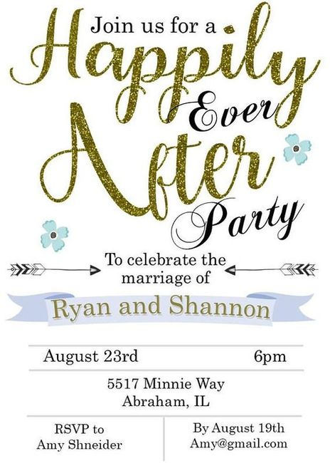 Reception only invites 1