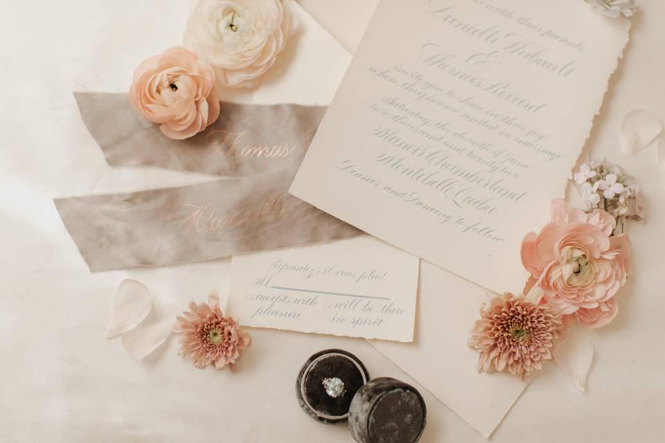 Handmade Invitation Suite